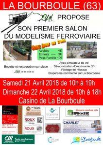 Affiche expo modélisme ferroviaire 2018